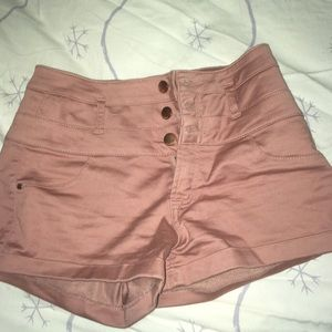 Pink/Nude High Waisted Shorts